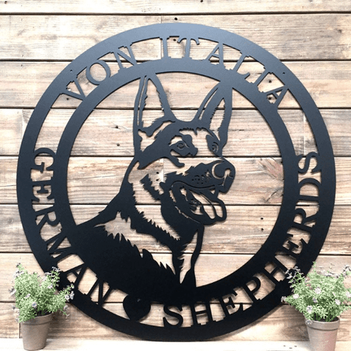 German Shepherd Established Sign