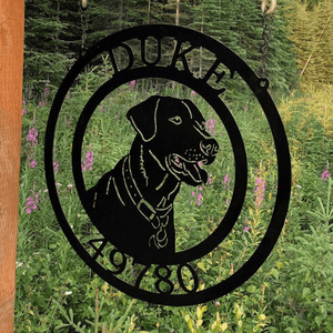 Labrador Retriever Dog Sign -- Custom Metal Sign