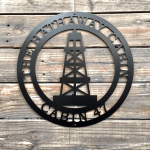 Oil Rig Metal Art | Gift for Oil Rig Worker