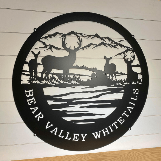 Personalized Deer & Mountain Sign