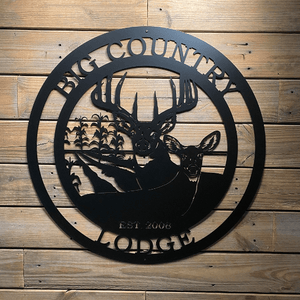 Personalized Deer & Corn Field Sign