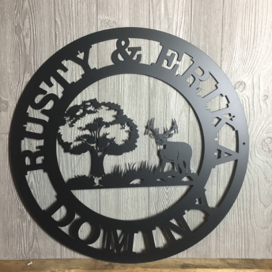 Custom Deer Hunting Sign