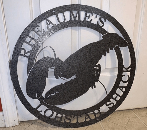 Personalized Lobster Metal Sign |Beach House Sign