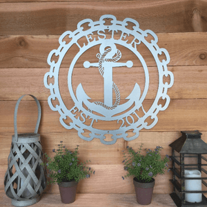 Anchor Family Established Sign |  Custom Metal Sign