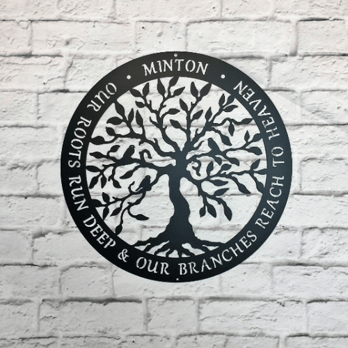 Personalized Family Name and Quote Tree of Life Sign | Our Roots Run Deep Quote