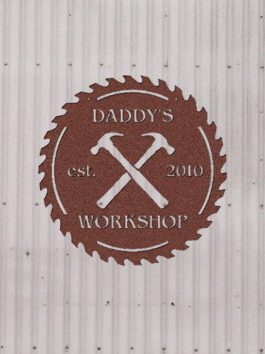 Metal Workshop Tool Shed Sign