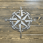 Decorative Metal Compass Nautical Wall Art