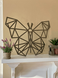 Modern Geometric Butterfly Wall Decor