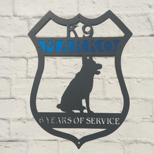 Personalized Shepherd K9 Badge Sign