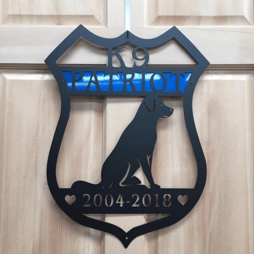 Personalized K9 Police Badge Sign