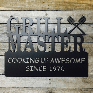 Grill Master Date Sign
