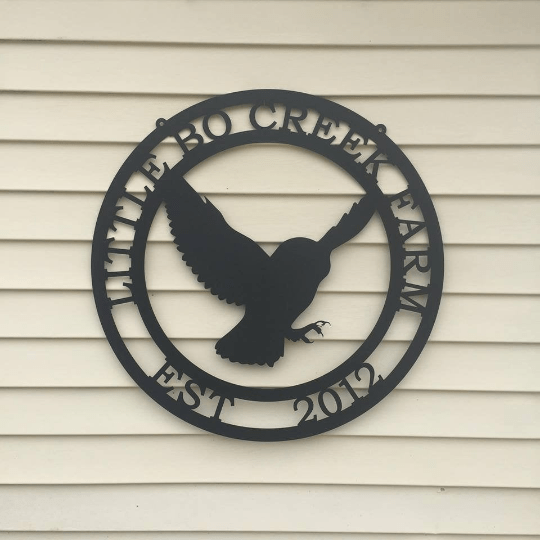 Flying Owl Personalized Sign-- Custom Metal Sign