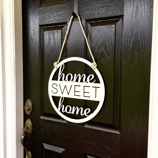 Home Sweet Home Custom Metal Sign