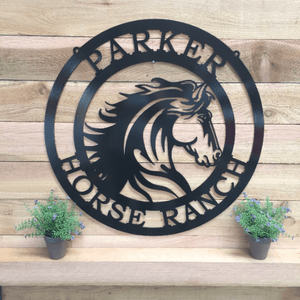 Majestic Horse Ranch Sign --Custom Metal Sign