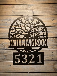Tree of Life Personalized Address Sign