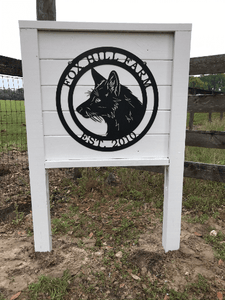 Red Fox Ranch Sign-- Custom Metal Sign