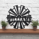 Windmill Established Sign | Wall Decor | Custom Metal Sign