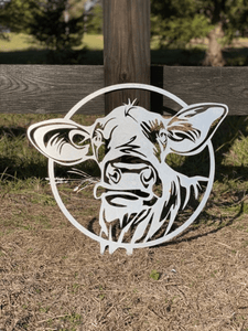 Metal Cow Sign (Betsy)-- Custom Metal Sign