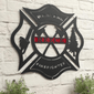Wildland Firefighter Metal Maltese Sign