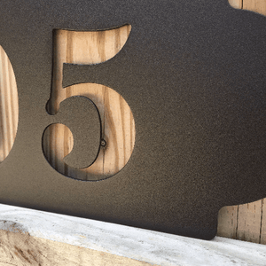 Horizontal House Numbers - Address Sign