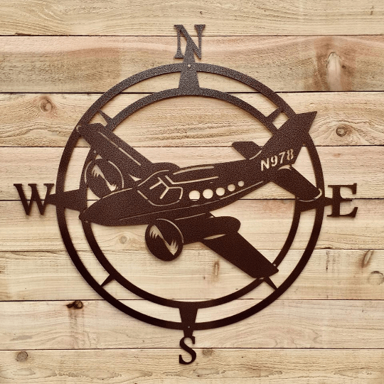 Airplane Compass Wall Art