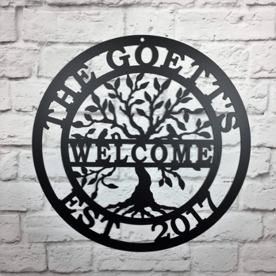 Welcome Tree of life Name Date Sign