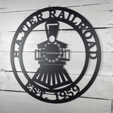 Personalized Train Sign - Powder Coated for Outdoor or Indoor Use, High Quality Custom Metal Sign