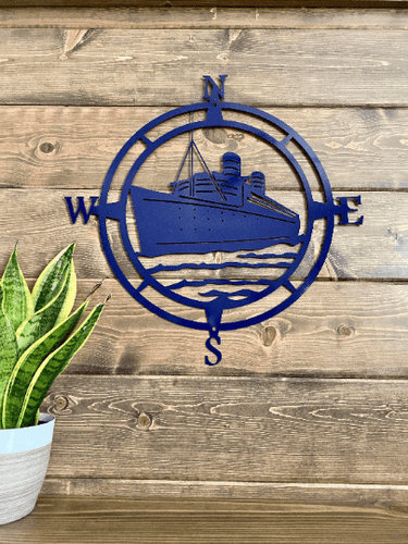 Ship Compass Wall Art