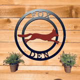 Two-Color Fox Ranch Sign-- Custom Metal Sign
