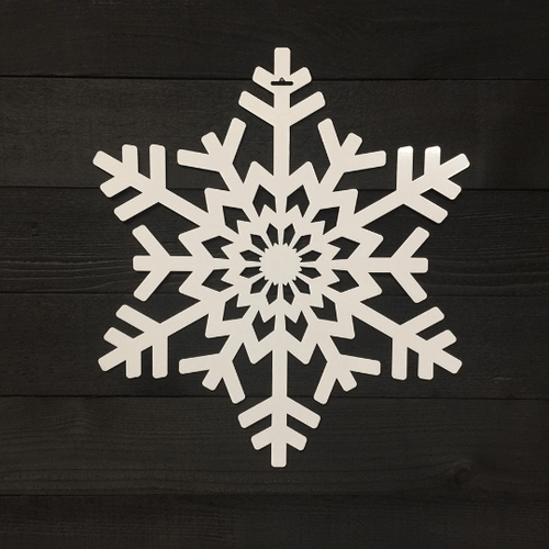 Snowflake Door Wreath