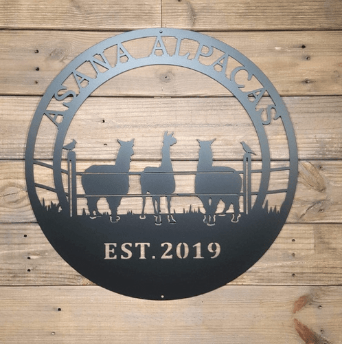 Alpaca Ranch Metal Sign