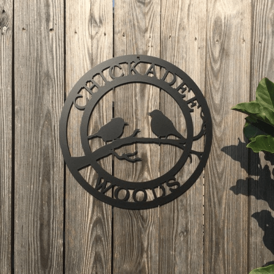 Bird Lover Yard or Garden Sign | Weatherproof Outdoor Custom Metal Sign