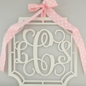 Scalloped Initial Door Wreath Decor
