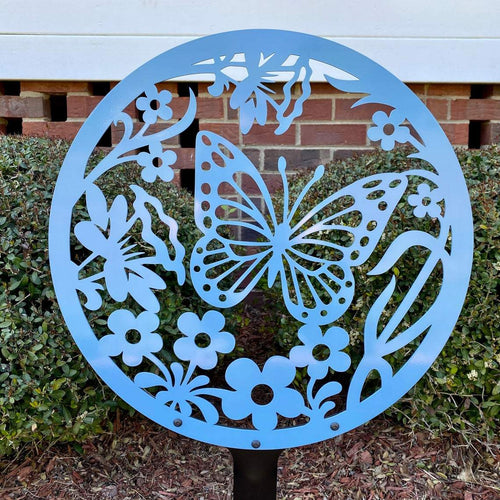 Metal Butterfly Yard Sign