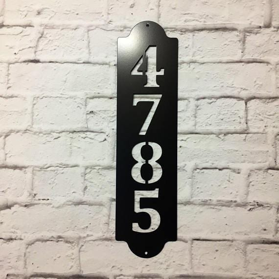 MODERN: Home Address Plaque