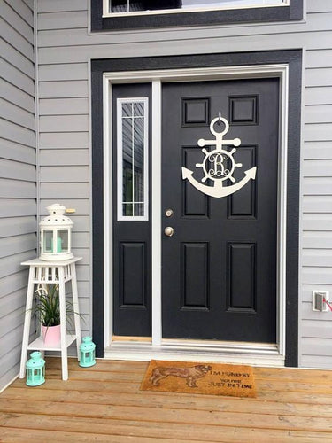 Metal Monogram Anchor - Door or Wall Decor