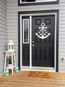 Metal Anchor Front Door Wreath -- Custom Metal Sign