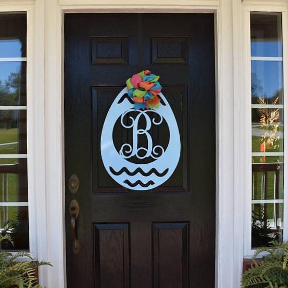 Easter Egg Monogram Door Hanger