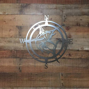 Marlin Nautical Compass Wall Art