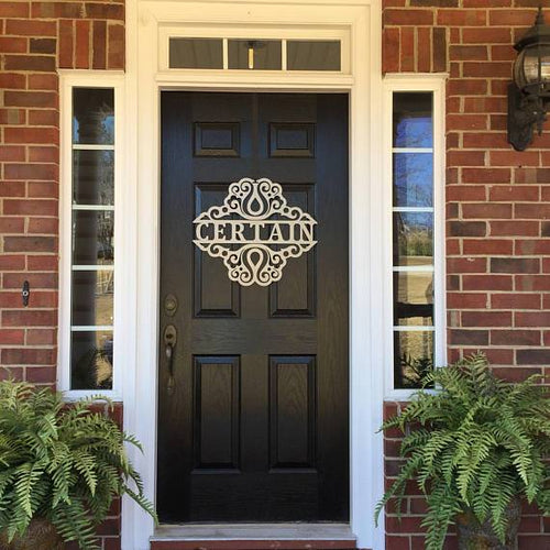 THE MADISON: Decorative Personalized Front Door Wreath