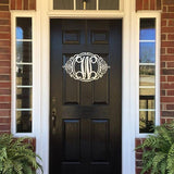 The Roswell Classy Monogrammed Door Wreath