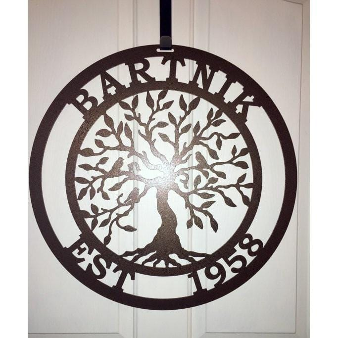 """Olive Tree of Life"" Family Established Sign"