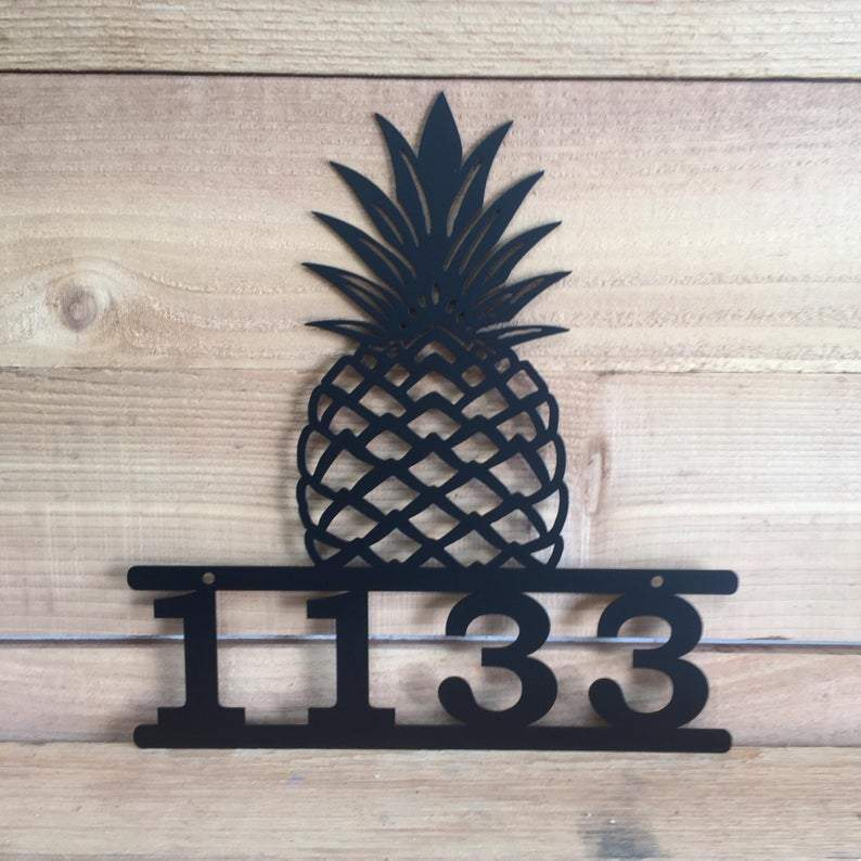 Custom Metal Modern Pineapple Address Sign