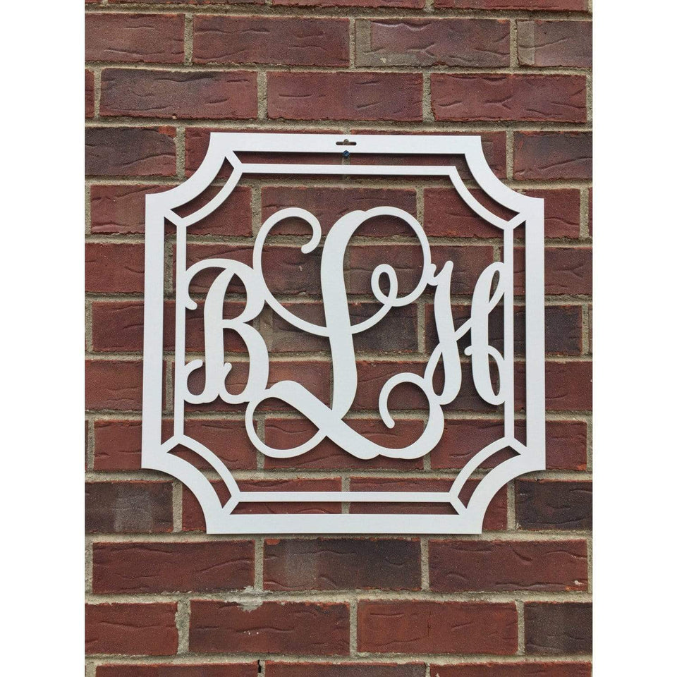 Scalloped Initial Door Wreath/ Wall Decor