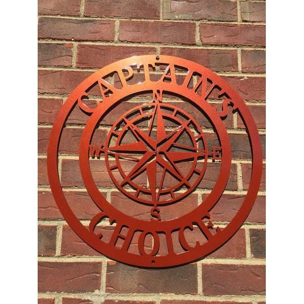 Personalized Nautical Compass Sign
