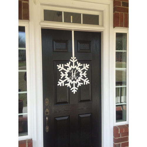 Snowflake Monogram Door Wreath