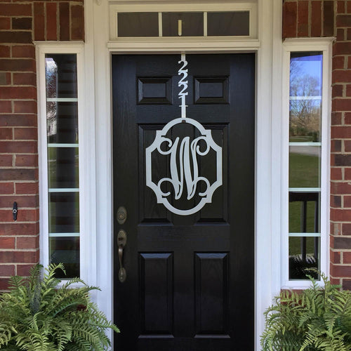 GIDEON: Scallop Metal Monogram Door Wreath