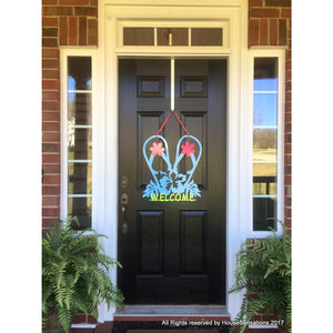 THE JOANNA: Flip-Flops Front Door Welcome Sign