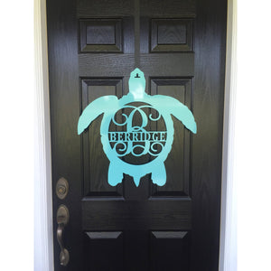 CRUSH: Turtle Personalized Monogram Front Door Wreath & Beach Decor