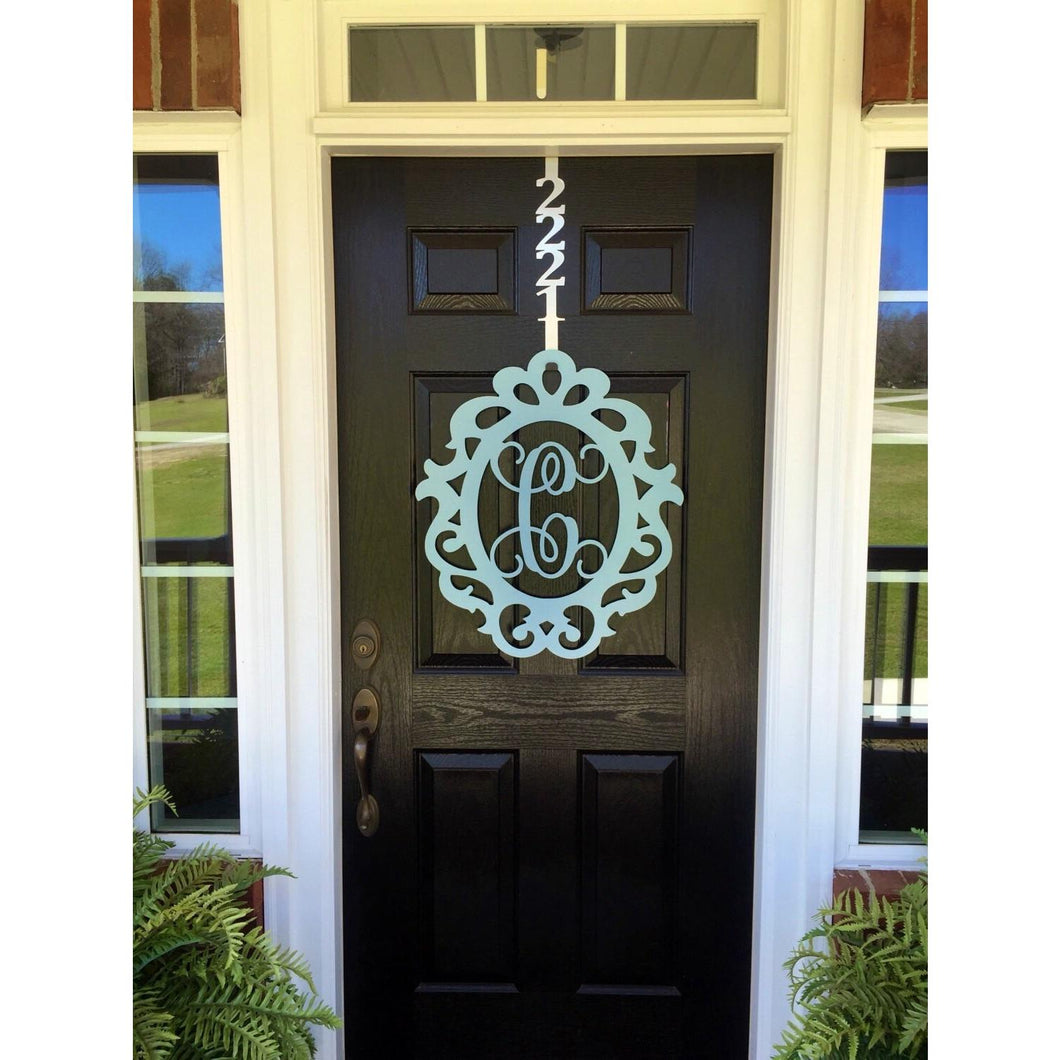 THE SARAH: Princess Metal Monogram Door Wreath and Decor